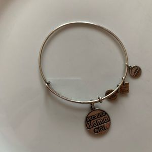 Because I am a girl Alex and Ani charm bangle